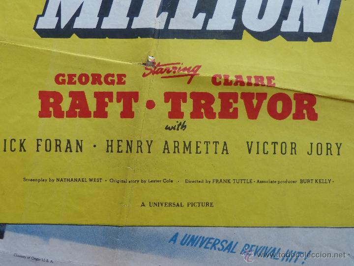Cine: I Stole a Million Póster original de la película, Original, Doblado, año R1947, Hecho en USA, Usado - Foto 9 - 46797799