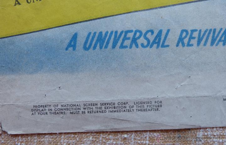 Cine: I Stole a Million Póster original de la película, Original, Doblado, año R1947, Hecho en USA, Usado - Foto 10 - 46797799