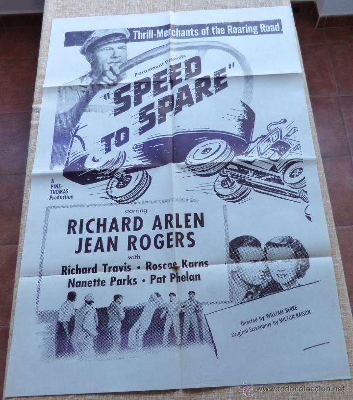SPEED TO SPARE PÓSTER MILITAR ORIGINAL DE LA PELÍCULA, ORIGINAL, DOBLADO, AÑO R1950S?, U.S.A., USADO (Cine- Posters y Carteles - Drama)