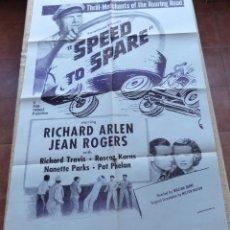 Cine: SPEED TO SPARE PÓSTER MILITAR ORIGINAL DE LA PELÍCULA, ORIGINAL, DOBLADO, AÑO R1950S?, U.S.A., USADO. Lote 46798625