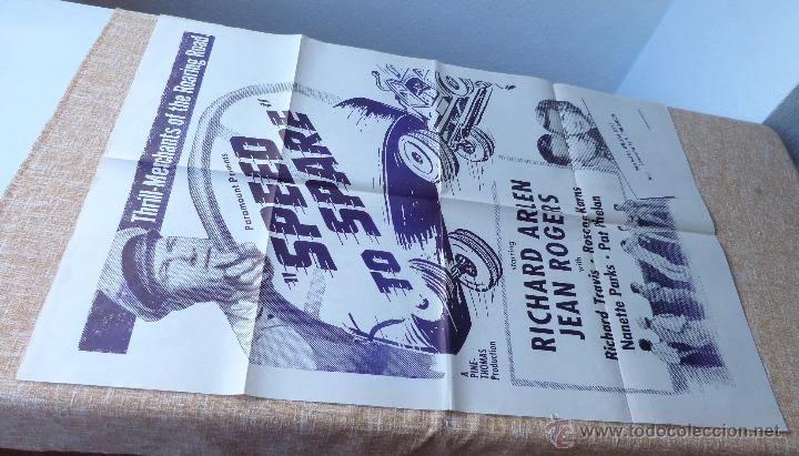 Cine: Speed to Spare Póster Militar original de la película, Original, Doblado, año R1950s?, U.S.A., Usado - Foto 2 - 46798625