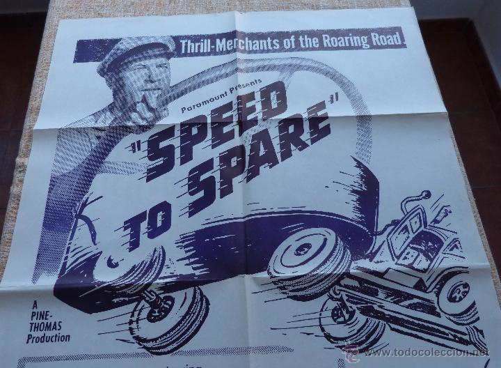 Cine: Speed to Spare Póster Militar original de la película, Original, Doblado, año R1950s?, U.S.A., Usado - Foto 3 - 46798625