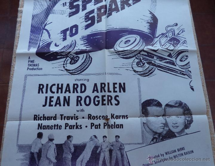Cine: Speed to Spare Póster Militar original de la película, Original, Doblado, año R1950s?, U.S.A., Usado - Foto 4 - 46798625