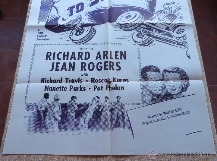 Cine: Speed to Spare Póster Militar original de la película, Original, Doblado, año R1950s?, U.S.A., Usado - Foto 5 - 46798625