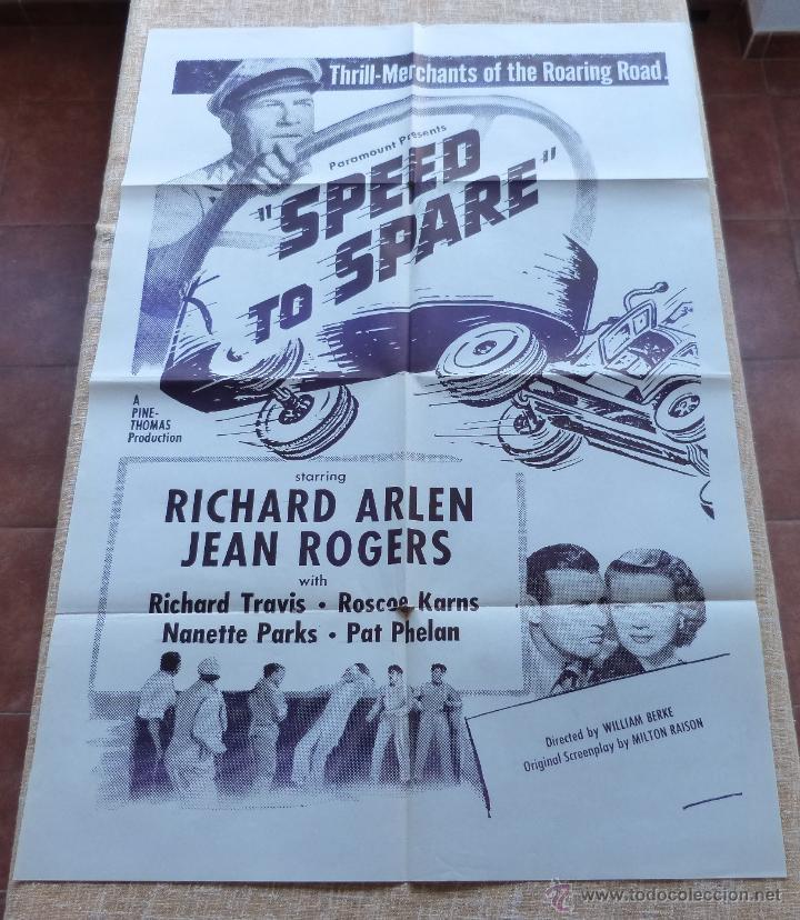 Cine: Speed to Spare Póster Militar original de la película, Original, Doblado, año R1950s?, U.S.A., Usado - Foto 8 - 46798625