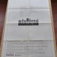 Cine: MANHATTAN PÓSTER ORIGINAL DE LA PELÍCULA, DOBLADO, ORIGINAL, AÑO 1979, HECHO EN U.S.A., PÓSTER USADO. Lote 46835669