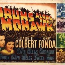 Cine: CORAZONES INDOMABLES CLAUDETTE COLBERT HENRY FONDA JOHN FORD POSTER ORIGINAL AMERICANO 72 X 56 CM.. Lote 46896731