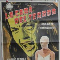 Cine: LA CARA DEL TERROR 62 POSTER. Lote 46952175