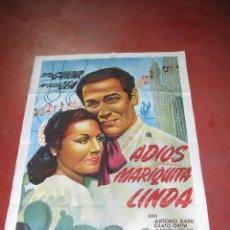 Cine: ADIOS MARIQUITA LINDA 1944 TITO GUIZA MARIA LUISA ZEA CARTEL CINE POSTER ORIGINAL. Lote 46994507