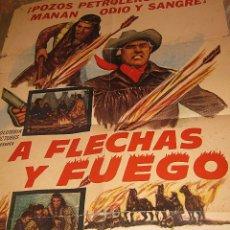 Cine: CARTEL ORIGINAL ESTADOS UNIDOS A FLECHAS Y FUEGO STEWART GRANGER ALEMANIA 1965. Lote 47035365
