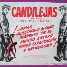 Cine: CARTEL CHARLES CHAPLIN, CANDILEJAS, LIMELIGHT, AMOR..RISAS..LAGRIMAS, 1966. Lote 47147434