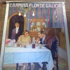 Cine: CARMIÑA, FLOR DE GALICIA. POSTER ESTRENO 80X115. CINE MUDO ESPAÑOL 1926. LITOGRAFÍA. Lote 179950146