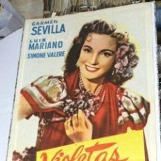 Cine: VIOLETAS IMPERIALES - DIRECTOR: RICHARD POTTIER - INTÉRPRETES: LUIS MARIANO, CARMEN SEVILLA. 1952. 7. Lote 47206668
