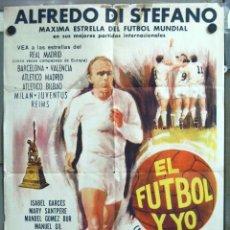 Cine: VN72 CCJ LA BATALLA DEL DOMINGO ALFREDO DI STEFANO FUTBOL REAL MADRID POSTER ORIG ARGENTINO 75X110. Lote 47289550