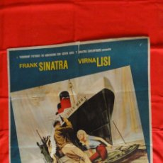 Cine: ASALTO AL QUEEN MARY, POSTER ORIGINAL 1966, FRANK SINATRA VIRNA LISI, 70X100 CMS.. Lote 47347483