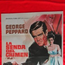 Cine: LA SENDA DEL CRIMEN, POSTER ORIGINAL 1968, EXCTE ESTADO, GEORGE PEPPARD GAYLE HUNNICUTT. Lote 47363272