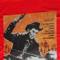 Cine: PISTOLAS EN LA FRONTERA, POSTER ORIGINAL 1963, ROBERT TAYLOR ROBERT LOGGIA, 70X100CMS.. Lote 47365014
