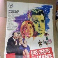 Cine: CARTEL, POSTER ORIGINAL, LOS CELOS Y EL DUENDE, BALBUENA, 1966. Lote 47442051