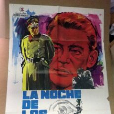 Cine: CARTEL, POSTER ORIGINAL, LA NOCHE DE LOS GENERALES, LITVAK, JANO, 1967, THE NIGHT OF THE GENERALS. Lote 47442080