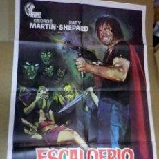 Cine: CARTEL, POSTER ORIGINAL, ESCALOFRIO DIABOLICO, DIR. MARTIN, ESPAÑA, POR JANO. Lote 47442329