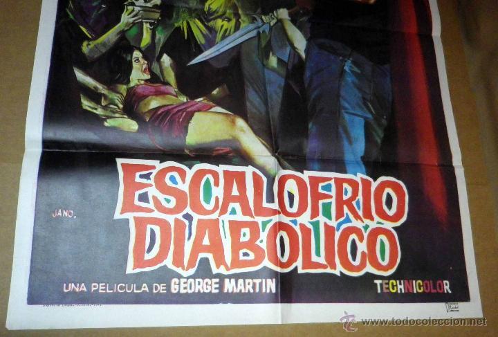 Cine: CARTEL, POSTER ORIGINAL, ESCALOFRIO DIABOLICO, DIR. MARTIN, ESPAÑA, POR JANO - Foto 2 - 47442329