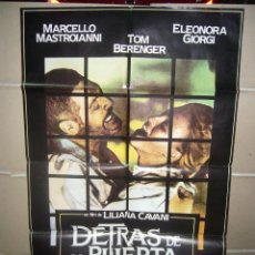 Cine: DETRAS DE LA PUERTA LILIANA CAVANI ELEONORA GIORGI MASTROIANNI POSTER ORIGINAL 70X100 YY (920). Lote 47572026