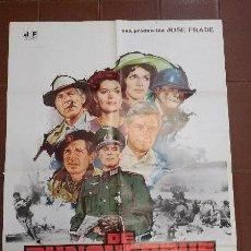 Cine: CARTEL DE CINE - MOVIE POSTER -DE DUNQUERQUE A LA VICTORIA - PRODUCIDA POR JOSE FRADE. Lote 47575875