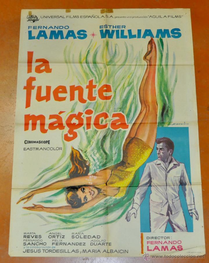 POSTER ORIGINAL, LA FUENTE MAGICA ESTHER WILLIAMS FERNANDO LAMAS 70X100 (Cine - Posters y Carteles - Clasico Español)