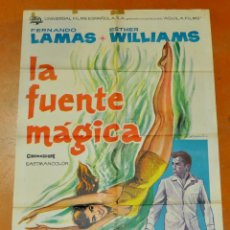 Cine: POSTER ORIGINAL, LA FUENTE MAGICA ESTHER WILLIAMS FERNANDO LAMAS 70X100. Lote 47593381