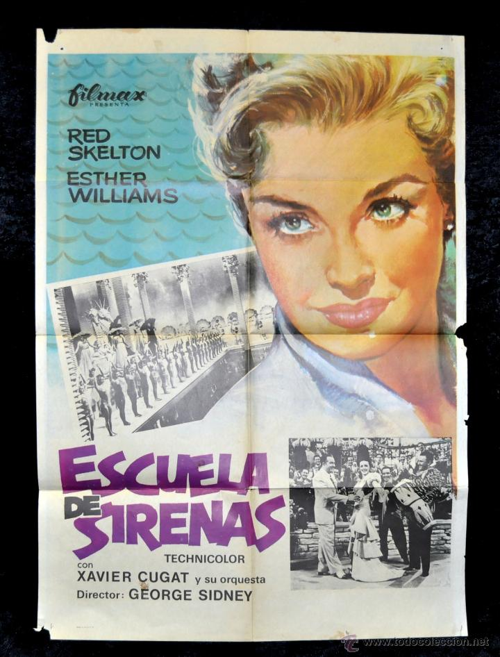 POSTER ORIGINAL ESCUELA DE SIRENAS ESTHER WILLIAMS 70X100 (Cine - Posters y Carteles - Musicales)