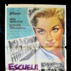 Cine: POSTER ORIGINAL ESCUELA DE SIRENAS ESTHER WILLIAMS 70X100. Lote 47594210