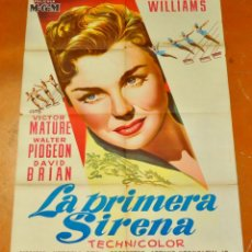 Cine: POSTER ORIGINAL, LA PRIMERA SIRENA ESTHER WILLIAMS VICTOR MATURE 70X100. Lote 47594440