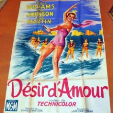 Cine: POSTER ORIGINAL DE 1959, DESIR D'AMOUR, ESTHER WILLIAMS Y JOHNSON TONY MARTIN. Lote 47594730