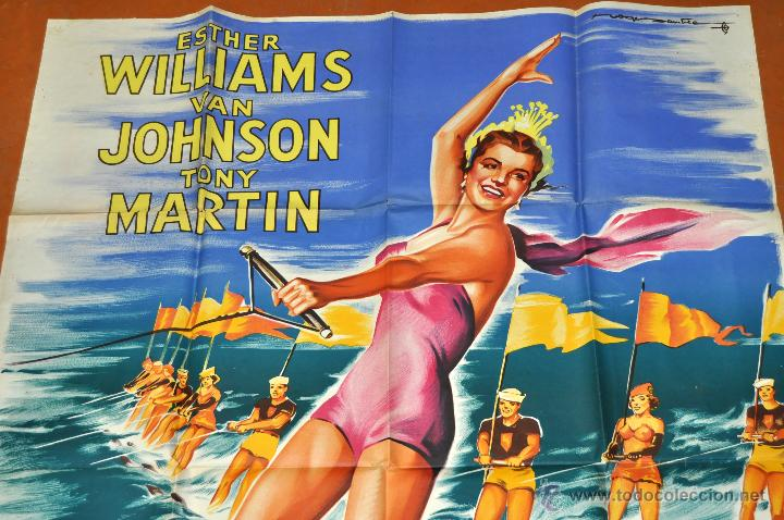 Cine: POSTER ORIGINAL DE 1959, DESIR DAMOUR, ESTHER WILLIAMS Y JOHNSON TONY MARTIN - Foto 2 - 47594730
