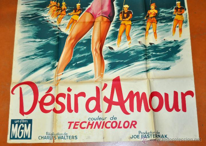 Cine: POSTER ORIGINAL DE 1959, DESIR DAMOUR, ESTHER WILLIAMS Y JOHNSON TONY MARTIN - Foto 3 - 47594730