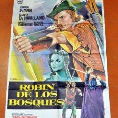 Cine: POSTER ORIGINAL, ROBIN DE LOS BOSQUES ERROL FLYNN OLIVIA DE HAVILLAND. Lote 47594864