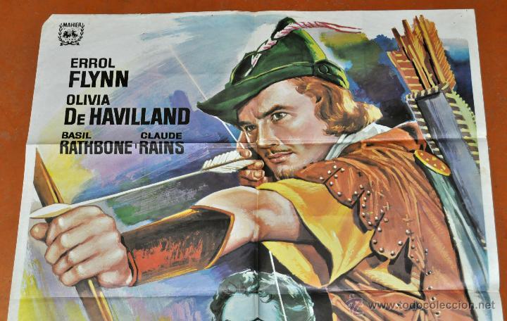 Cine: POSTER ORIGINAL, ROBIN DE LOS BOSQUES ERROL FLYNN OLIVIA DE HAVILLAND - Foto 2 - 47594864