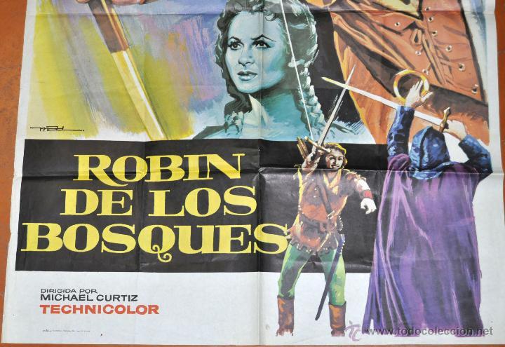 Cine: POSTER ORIGINAL, ROBIN DE LOS BOSQUES ERROL FLYNN OLIVIA DE HAVILLAND - Foto 3 - 47594864