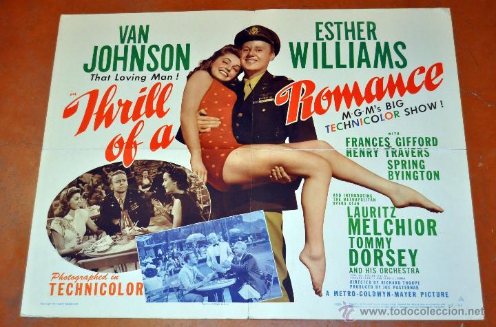 CARTEL DE CINE ORIGINAL, THILL OF A ROMANCE,AÑO 1945 (Cine - Posters y Carteles - Comedia)