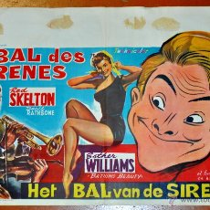 Cine: POSTER ORIGINAL, LE BAL DES SIRENES, ESTHER WILLIAMS Y RED SKELTON DEL AÑO 1944. Lote 47595207