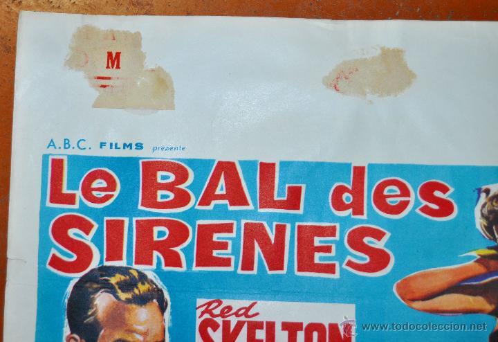 Cine: POSTER ORIGINAL, LE BAL DES SIRENES, ESTHER WILLIAMS Y RED SKELTON DEL AÑO 1944 - Foto 2 - 47595207