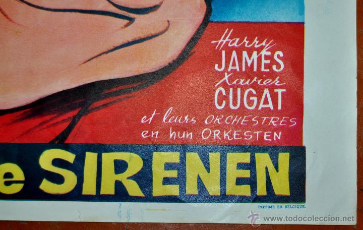 Cine: POSTER ORIGINAL, LE BAL DES SIRENES, ESTHER WILLIAMS Y RED SKELTON DEL AÑO 1944 - Foto 3 - 47595207