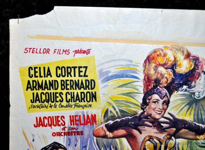 Cine: POSTER ORIGINAL DE 1957, LA BLONDE DES TROPIQUES, CELIA CORTEZ, ARMAND BERNARD, ETC - Foto 2 - 47595371