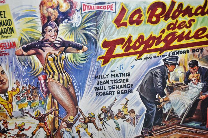 Cine: POSTER ORIGINAL DE 1957, LA BLONDE DES TROPIQUES, CELIA CORTEZ, ARMAND BERNARD, ETC - Foto 6 - 47595371