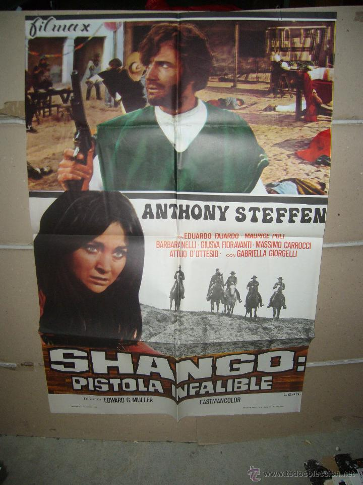 SHANGO PISTOLA INFALIBLE ANTHONY STEFFEN SPAGHETTI POSTER ORIGINAL 70X100 YY (934) (Cine - Posters y Carteles - Westerns)