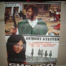 Cine: SHANGO PISTOLA INFALIBLE ANTHONY STEFFEN SPAGHETTI POSTER ORIGINAL 70X100 YY (934). Lote 47599899