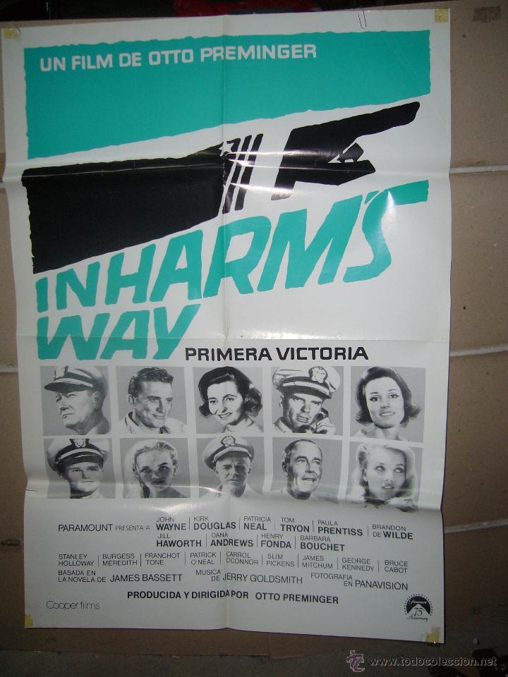 PRIMERA VICTORIA JOHN WAYNE KIRK DOUGLAS HENRY FONDA POSTER ORIGINAL 70X100 YY (941) (Cine - Posters y Carteles - Bélicas)