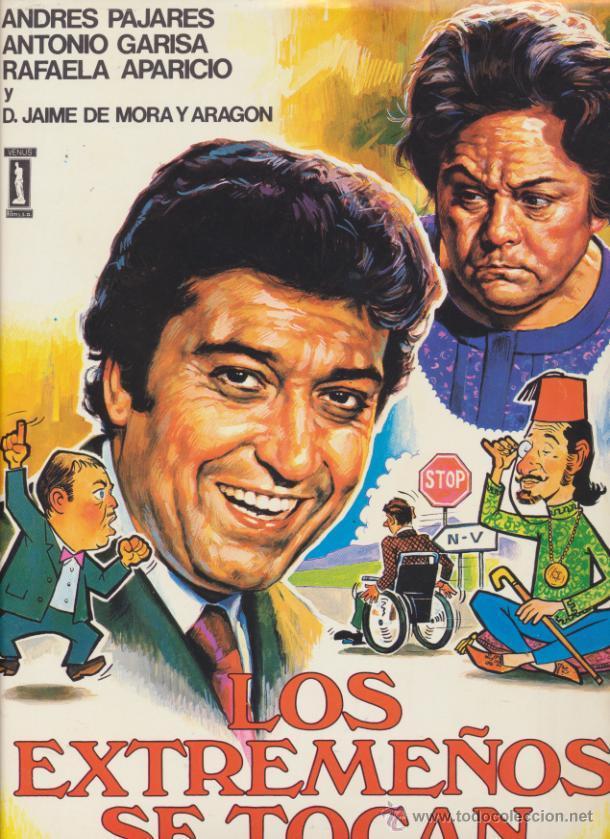 LOS EXTREMEÑOS SE TOCAN. CARTEL ? (33,5X24) DE VENUS FILMS. (Cine - Posters y Carteles - Clasico Español)