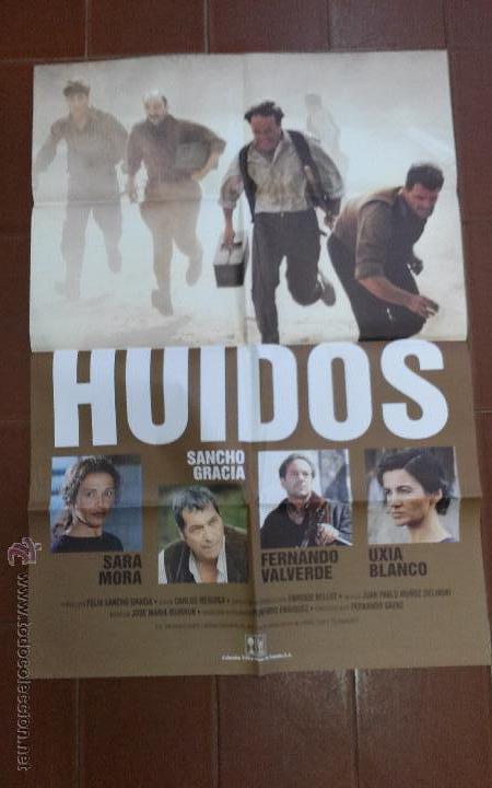 CARTEL DE CINE - MOVIE POSTER - HUIDOS- , CON SANCHO GRACIA, SARA MORA... (Cine - Posters y Carteles - Clasico Español)