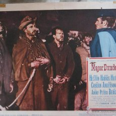 Cine: CHARLTON HESTON LOBBY CARD ORIGINAL ESTADOS UNIDOS MAYOR DUNDEE SAM PECKINPAH. Lote 47677677